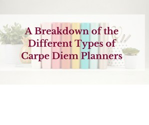 A Breakdown of the Different Types of Carpe Diem Planners