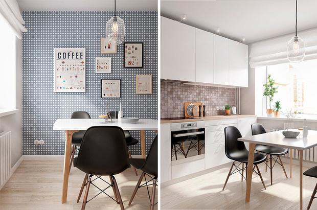 cocina con comedor de un piso de 60 metros cuadrados
