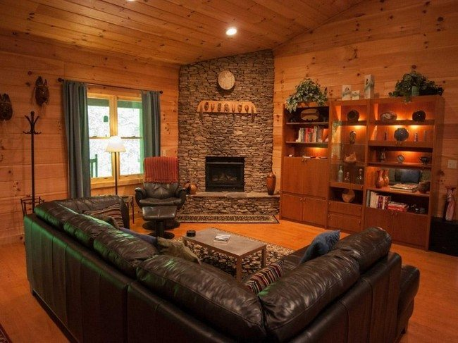 Cabin Homes Wide Double Mobile Log Inside