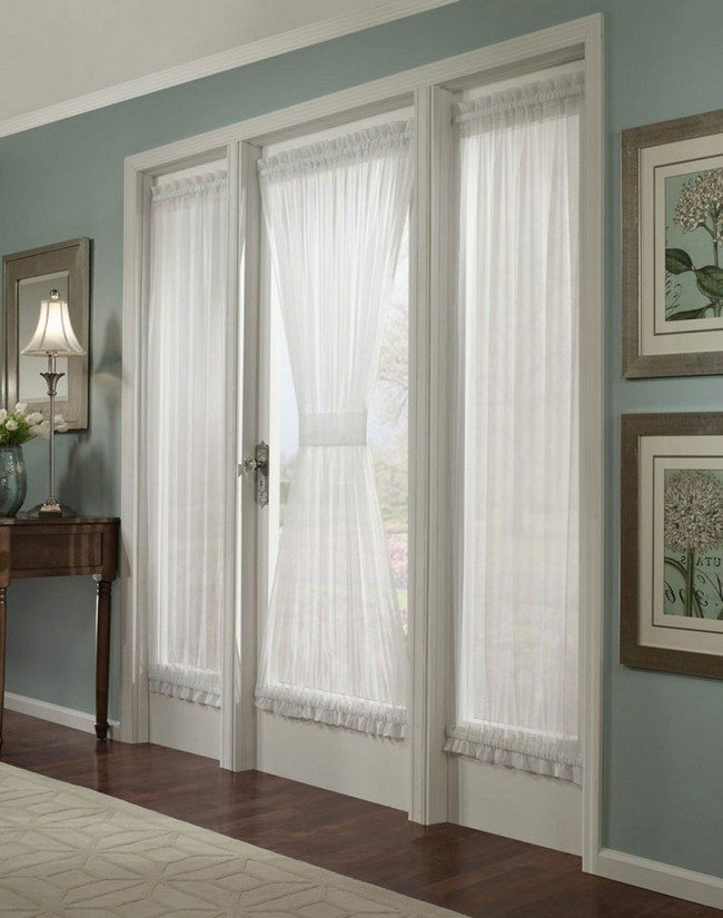 Best of The French Door Curtains Ideas   Decor Around The World french door curtain of a white color in the olive room