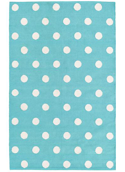Aqua Lotsa Polka Dots Rug Decor By Color