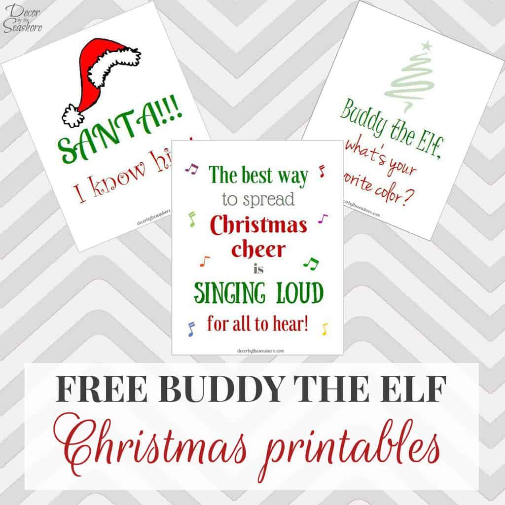 Free Elf Printables