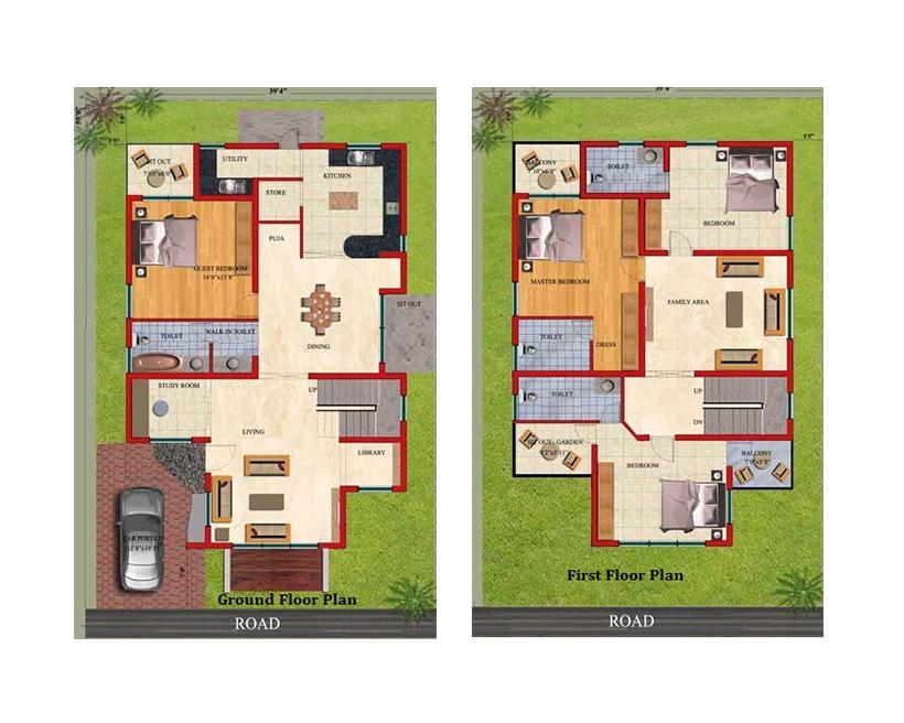 40 Feet By 60 Feet House Plan