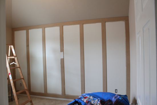 how to the paneled wall decorchick! - 550×367