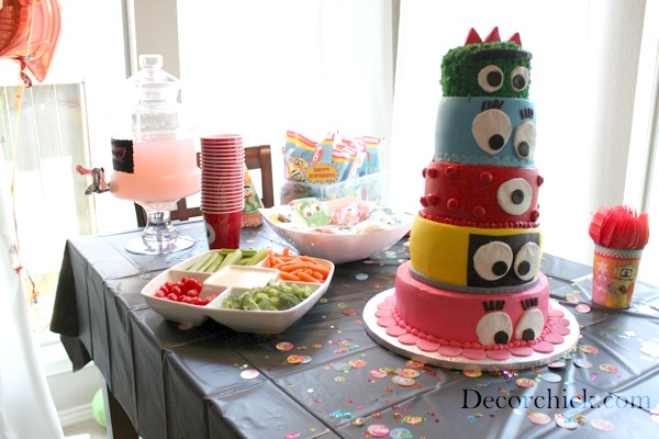 An awesome yo gabba gabba party decorchick for Decor xcetera