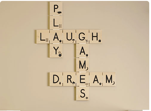 a26b6c57148 DIY Scrabble Tile Wall Art - Decorchick!
