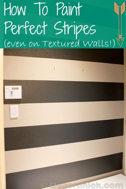 How To Paint Stripes And Painting Stripes on Textured Walls