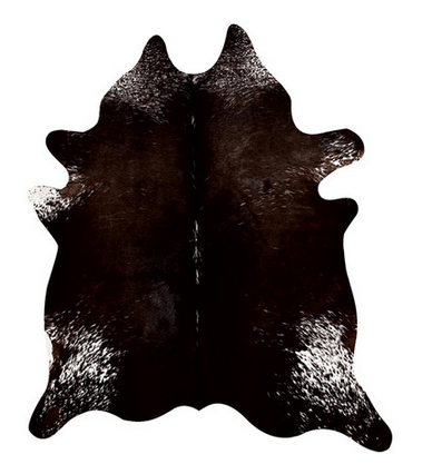 Dark Brown Cowhide Rug | www.decorchick.com