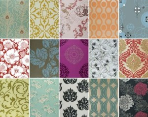 Common wallpaper styles and designs.