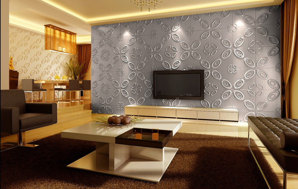 Curl upwards 3d wall panels decor city - Recubrimientos de paredes ...