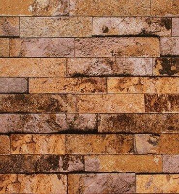 Yellow Brown Gold Brick Wallpaper Design 5Sqm Decor City
