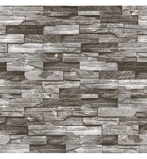 5sqm Grey 3D Brick Design Wallpaper