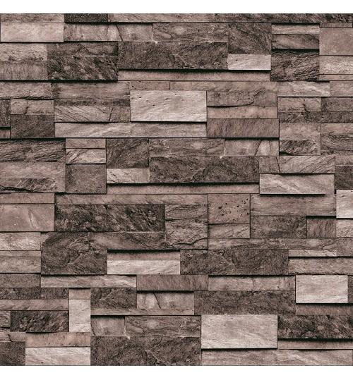 Grey Waterproof Washable Modern Design 3D Brick Wallpaper