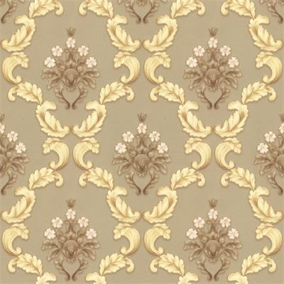 Gold and Brown Baroque 1514 wallpaper Design | Decor City