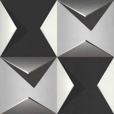 Black And Chromium Modern 3d Mk1011 Wallpaper Design Decor City