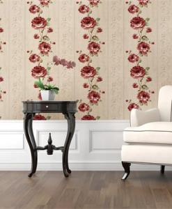 Burgundy and Green Floral wallpaper DM01402 EFFECT Sold in Nigeria by DecorCity