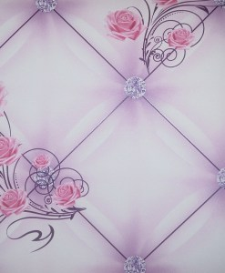 Pink and Light Purple Floral Wallpaper Design DD0046 - Sold in Nigeria by DecorCity