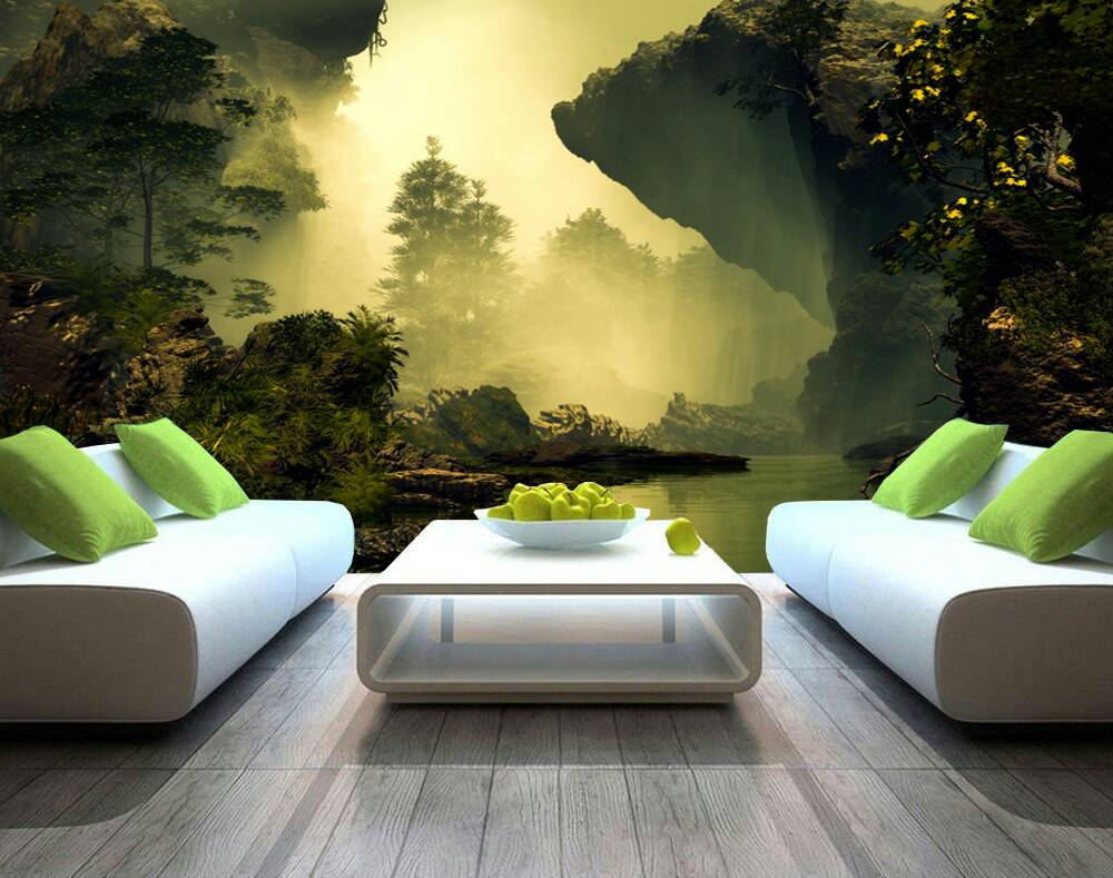 Sunset In The Forest 3d Custom Wall Murals Wallpapers Dcwm000794 Decor City