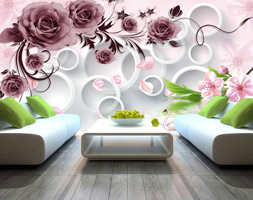 Beautiful Rosette Flower Design 3d Custom Wall Murals Wallpapers Dcwm003469 Decor City