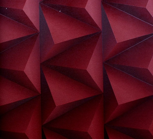 Burgundy Triangular Wallpaper Design Decor City