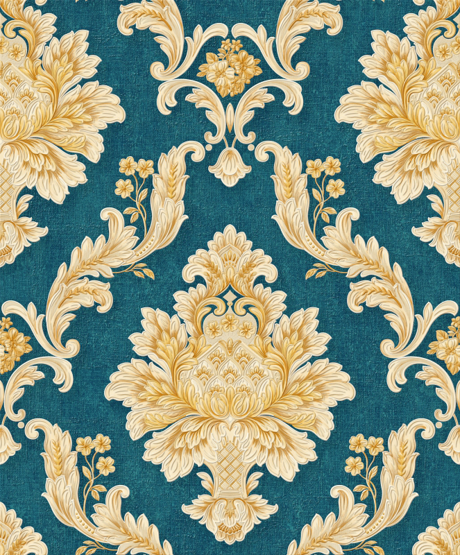 Green And Gold Damask Wallpaper A2 139p02 Decor City