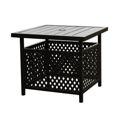 small patio tables with umbrellas hole