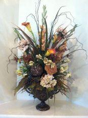 Elegant Tall Silk Floral Arrangements