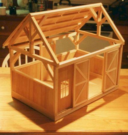Toy Barn For Sofia's Horses