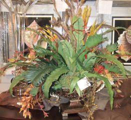 Tropical Silk Flower Arrangement