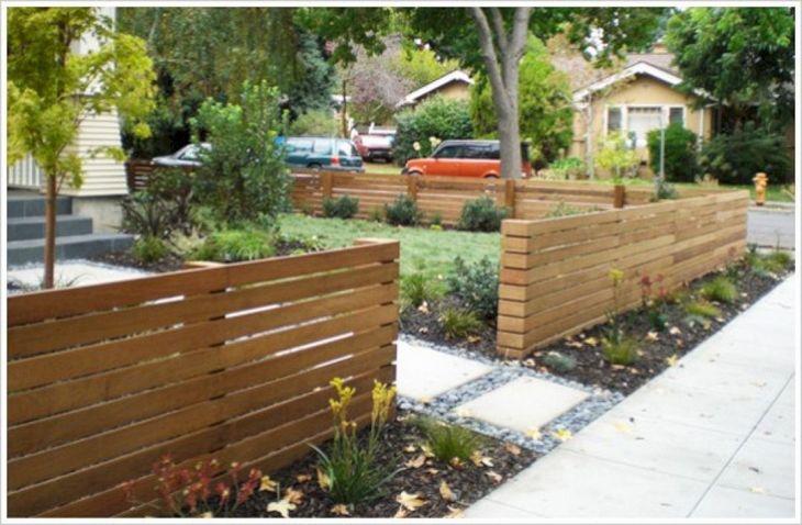 Wooden Garden Fence Design Ideas