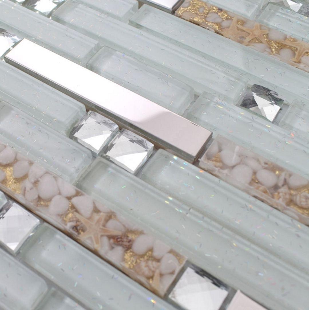 - 36 Clear Glass Mosaic Tile Kitchen Backsplash – DECOREDO