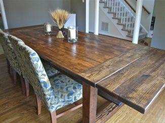 DIY Rustic Dining Room Table