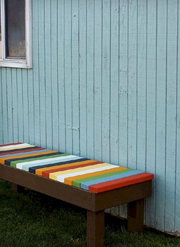 Low Budget Pallet Garden Bench