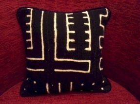 African Mudcloth Pillow Decoration
