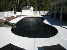 Black Fiberglass Swimming Pool