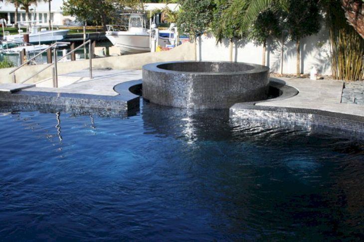 Black Glass Pool Tile