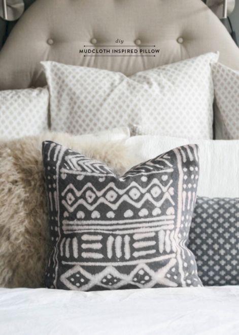Black Mud Cloth Pillow
