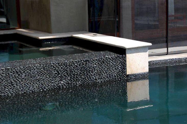 60 Astonishing Swimming Pool Minimalist With Black Tile