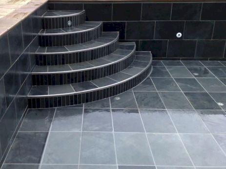 Black Tile Swimming Pools