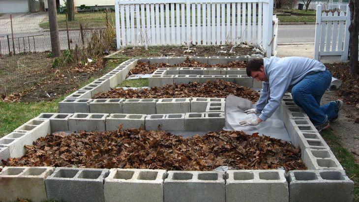 Building Cinder Block Raised Garden Beds