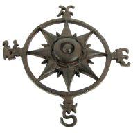 Cast Iron Wall Decor Compass Rose