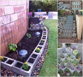 Cinder Block Flower Bed Border Ideas