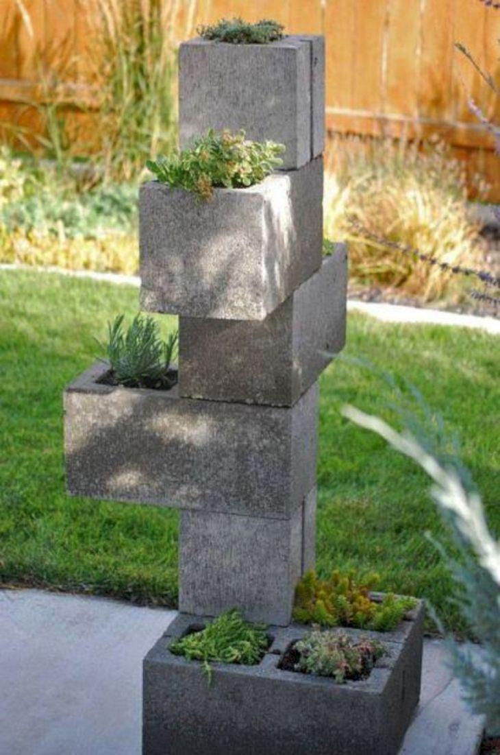 DIY Cinder Block Bench