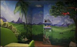 Dinosaur Theme Bedroom Decoration