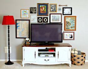 Gallery Wall Behind TV