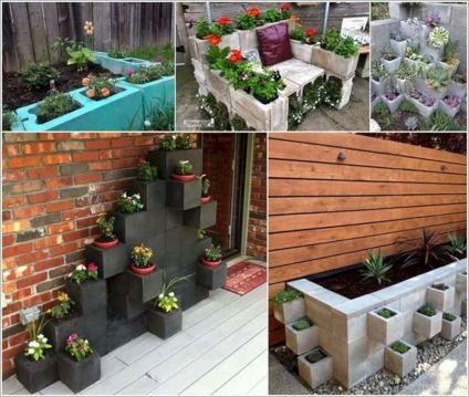 Garden Ideas with Cinder Block