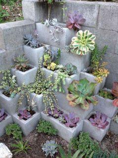 Garden Ideas with Cinder Blocks