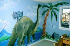 Kids Room Dinosaur Wall Mural
