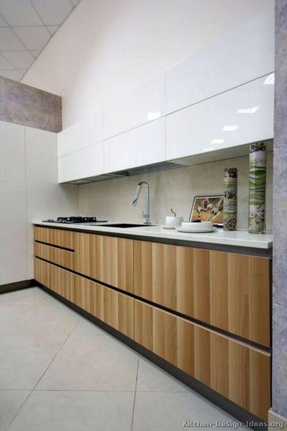 Modern Light Wood Kitchen Cabinets