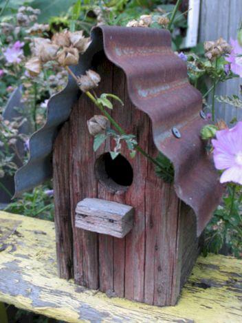 Most Popular Birdhouses Rustic in Your Garden 29